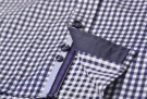 Purple bow 41 Navy check thumbnail