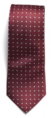 Tie dotted Wine/White