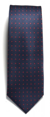 Tie dotted Navy/Red
